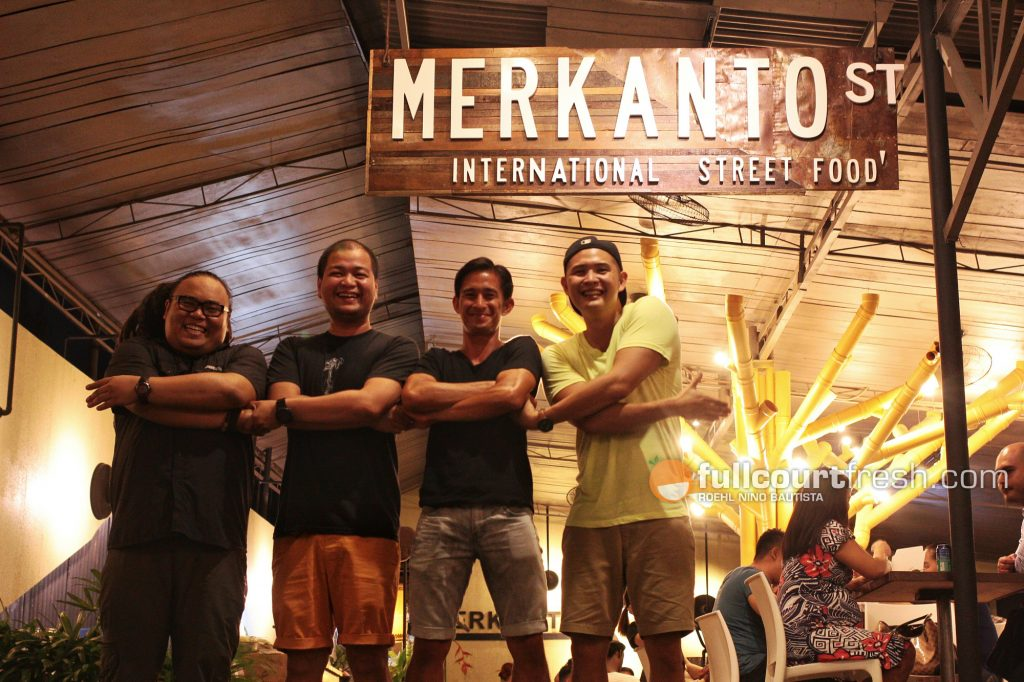 Four of the partners of Merkanto St. International Street Food (left to right) Keds Paulate, Paolo Sayo, BJ Ching and Andres Gonzales