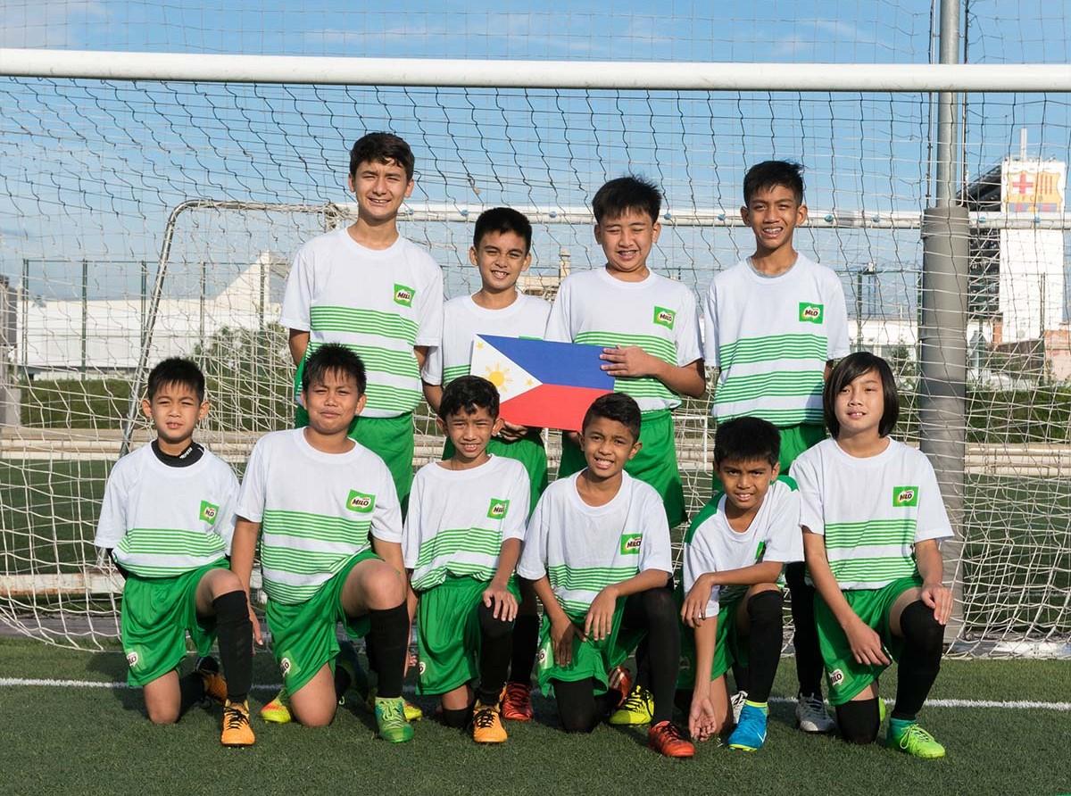 MILO Philippine Team at FCB Training Camp