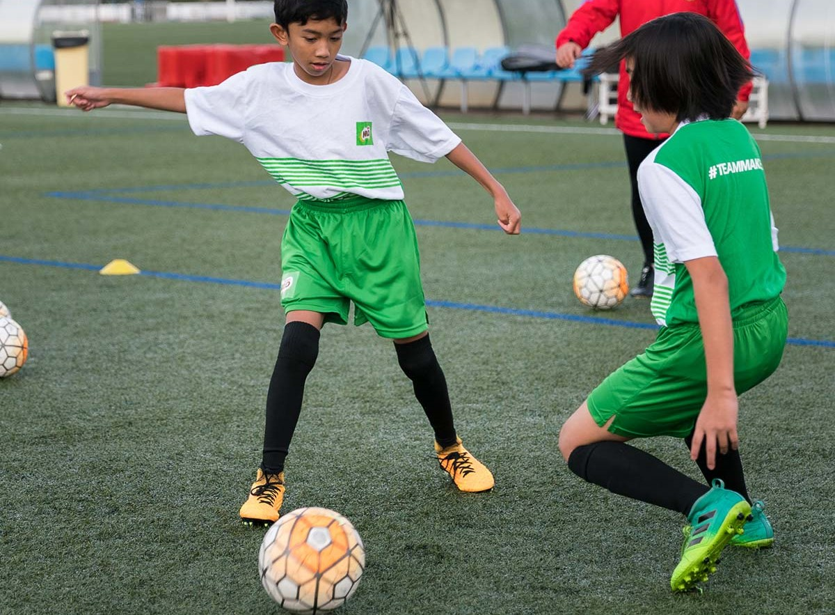 Young booters of the MILO Philippine team